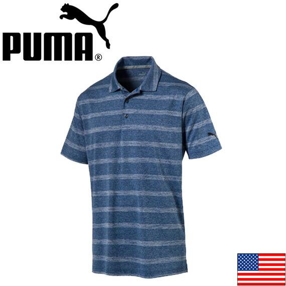 PUMA POUNCE STRIPE GOLF POLO(US)572350