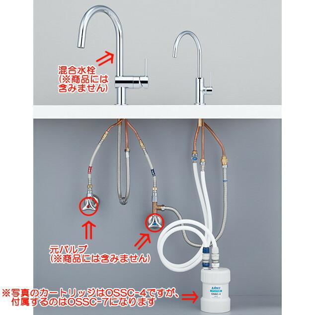 キッツ家庭用浄水器 オアシックス アンダーシンクII型 OSS-G7(カートリッジOSSC-7付)