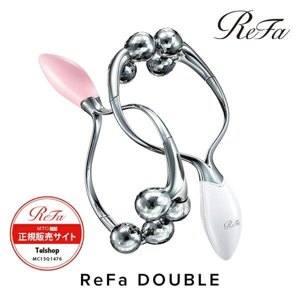 ReFa DOUBLE リファダブル ホワイト(RR-AC02)/ピンク(RR-AC05) MTG正規販売店 メーカー正規保証付き 美顔器 美顔ローラー【送料無料】