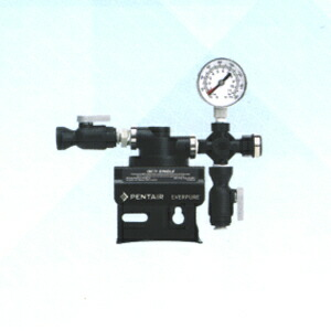 エバーピュア QC7I シングルヘッド 水圧ゲージ付き フィルターヘッド エバーピュア浄水器 EVERPURE