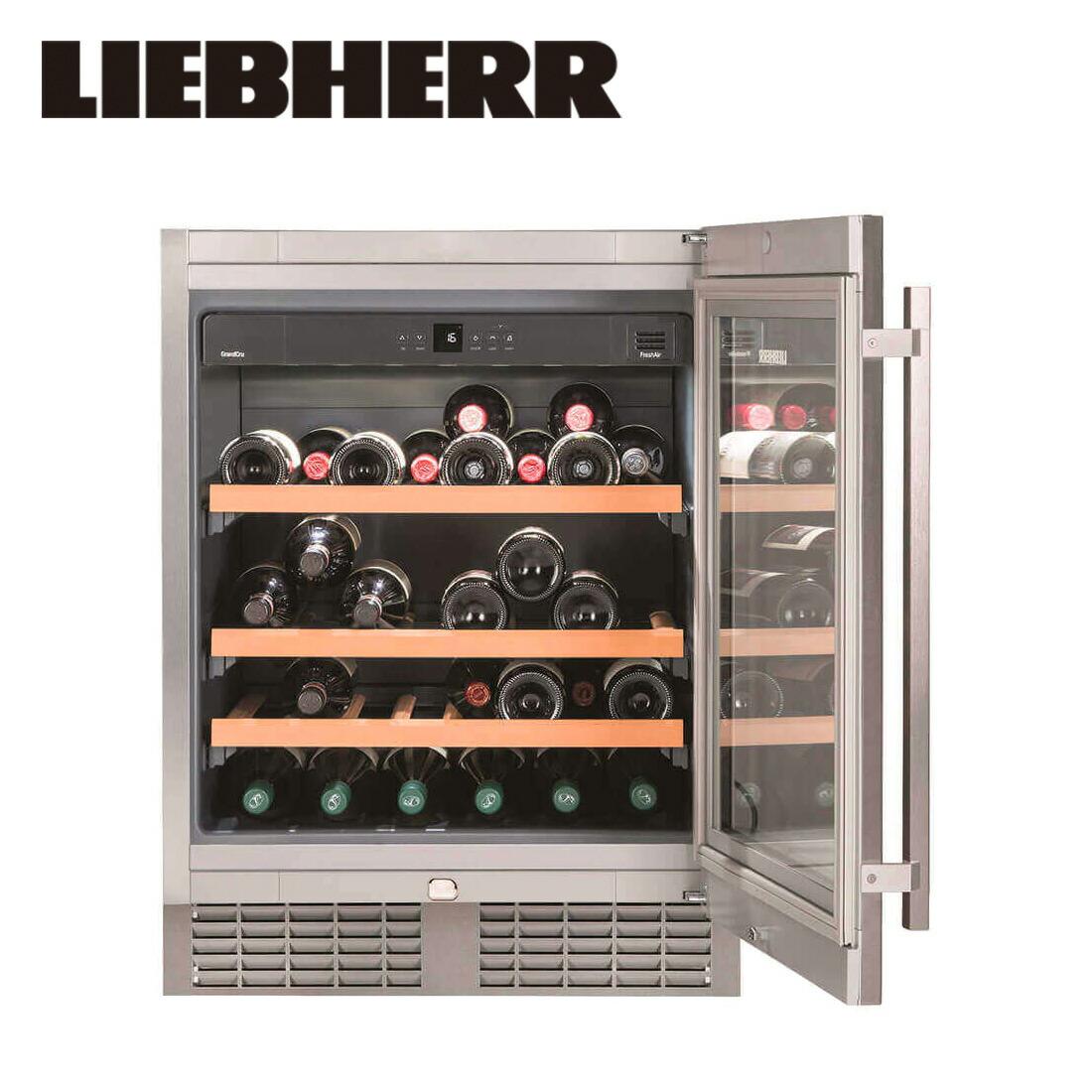 【関東4都県宛のみ注文可】リープヘル ワインキャビネット LIEBHERR UWKes1752 GrandCru 135L ビルトイン Built-in アンダーカウンター Undercounter Wine Cabinet【開梱設置無料】【代引不可】