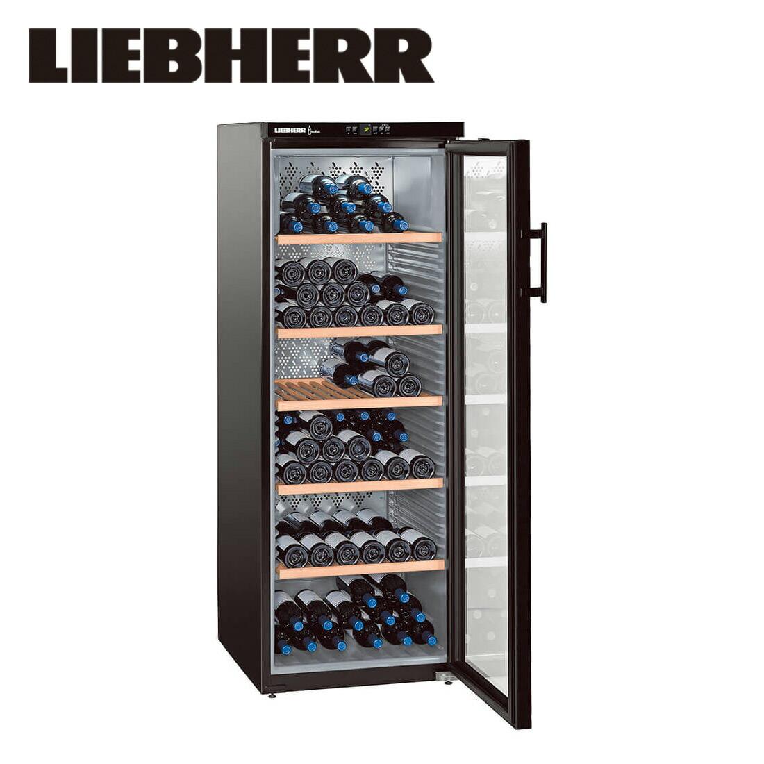 【一都三県は送料・開梱設置無料】リープヘル ワインキャビネット LIEBHERR WKb4212 Vinothek 427L Free Standing Wine Cabinet【代引不可】