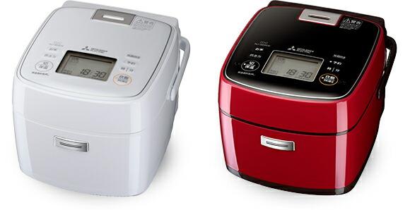【ホワイト:2021年10月下旬頃入荷予定】炊飯器 炭炊釜 三菱電機 Mitsubishi Electric  NJ-SEB06-W NJ-SEB06-R 0.5~3.5合 真紅 レッド 赤 月白 ホワイト 白