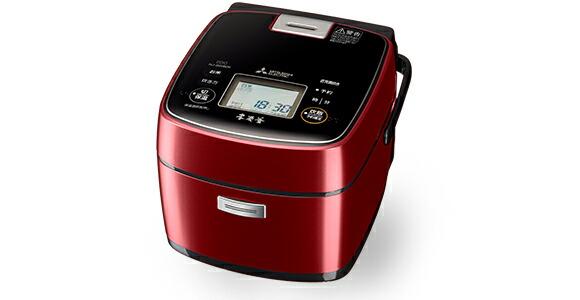 炊飯器 本炭釜 三菱電機 Mitsubishi Electric  NJ-SWB06-R NJSWB06 0.5~3.5合 赤紅玉 レッド 赤 【送料無料】