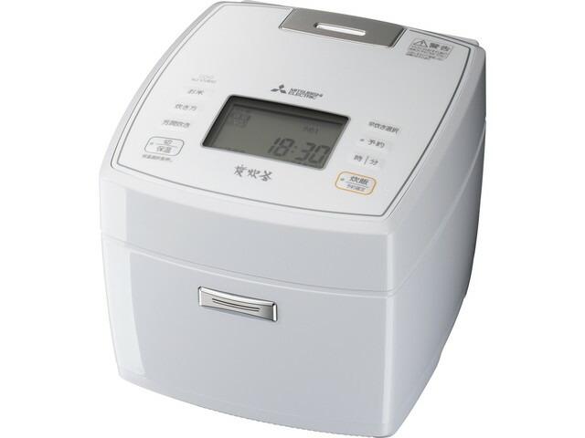 【送料無料】三菱電機 Mitsubishi Electric 炊飯器 炭炊釜 NJ-VVB10 0.5~5.5合 月白