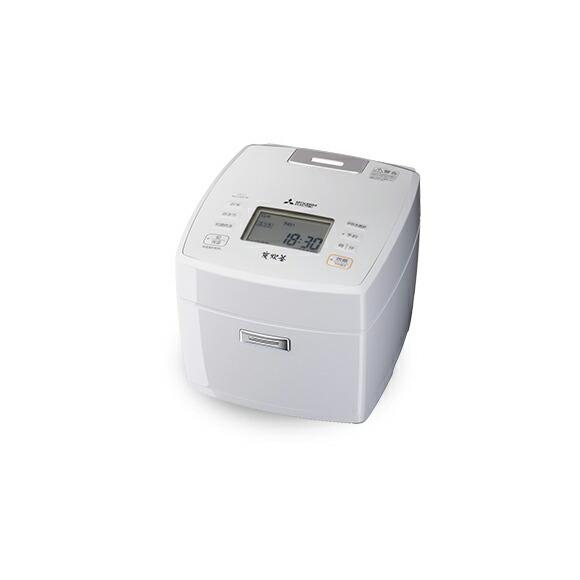 【ポイント不要の場合値引】三菱電機 MITSUBISHI ELECTRIC 三菱ジャー炊飯器 NJ-VVC10 月白 (W) 0.5~5.5合 備長炭 炭炊釜
