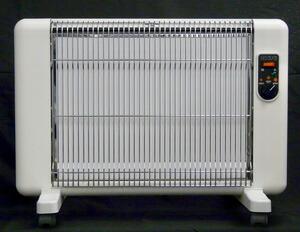 【正規販売店】サンラメラ サンラメラ0621型 ミルキーホワイト 遠赤外線暖房 セラミックヒーター 200W 400W 600W 4畳〜8畳 日本製 キャスター付き