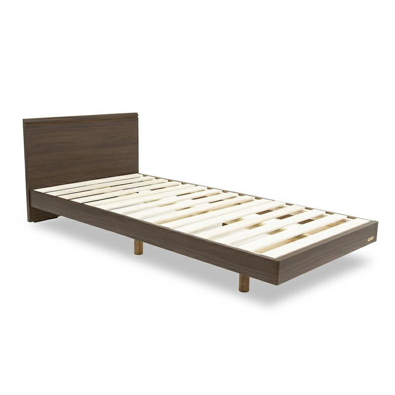 【フレームのみ】フランスベッド 脚付きベッドフレーム コンパクトワン OP70-03 ミディアムブラウン スノコ床板 シングルサイズ【お客様組立】【軒先渡し】
