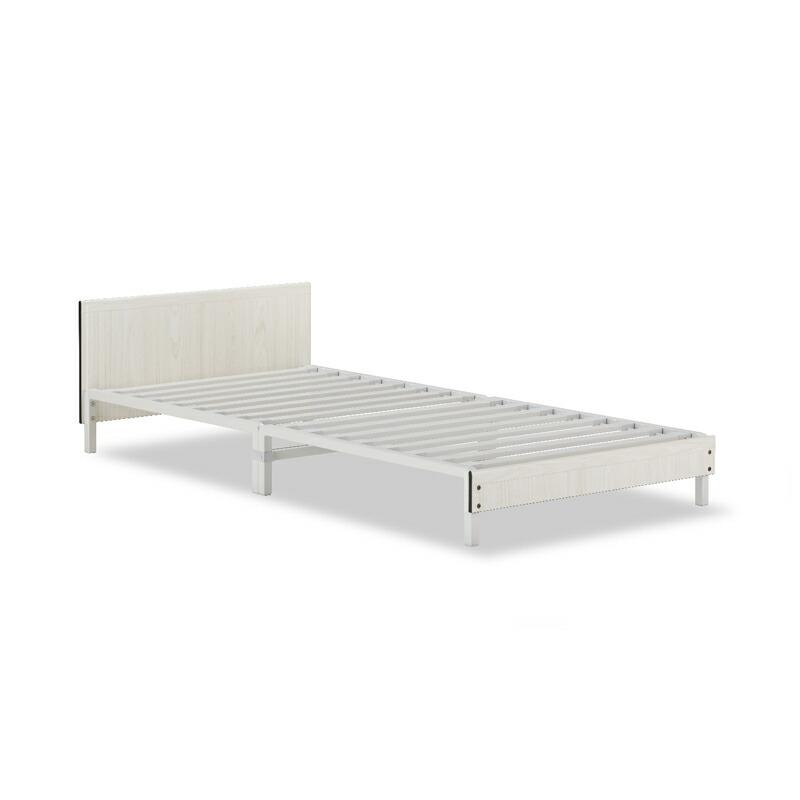 【フレームのみ】フランスベッド 脚付きベッドフレーム コンパクトワン ST-EC ホワイト スチール製 スノコ床板 シングルサイズ【お客様組立】【軒先渡し】