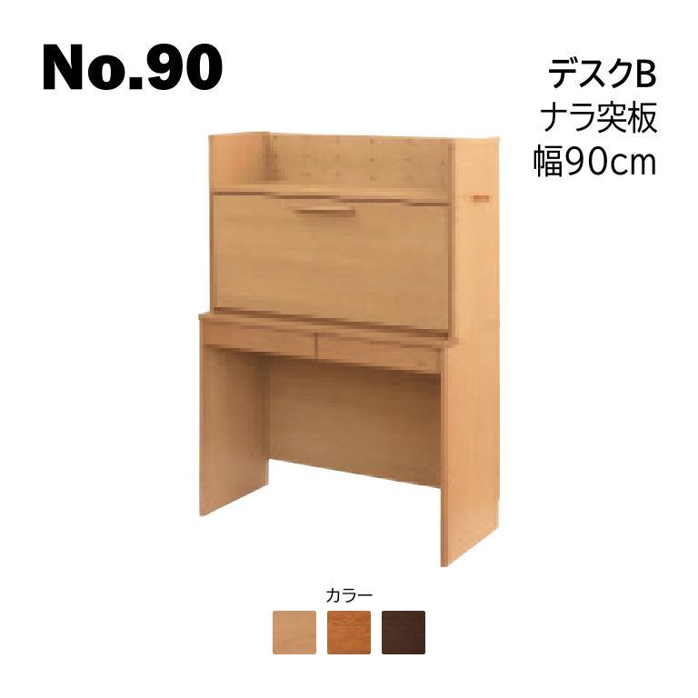 浜本工芸 2020年モデル No.90 デスクB 幅90cm No.9000/9004/9008 ◆開梱設置無料 ◆代引き不可