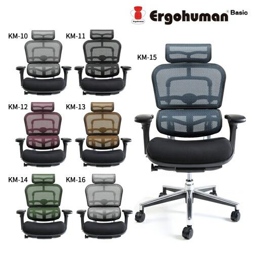 エルゴヒューマン ベーシック EH-HBM モールドクッション座面 ハイタイプ Ergohuman Basic【代金引換・時間指定不可】