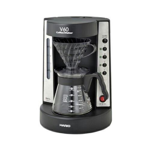 HARIO-V60 珈琲王コーヒーメーカー ブラック 9815  EVCM5TB 透明ブラック ハリオ