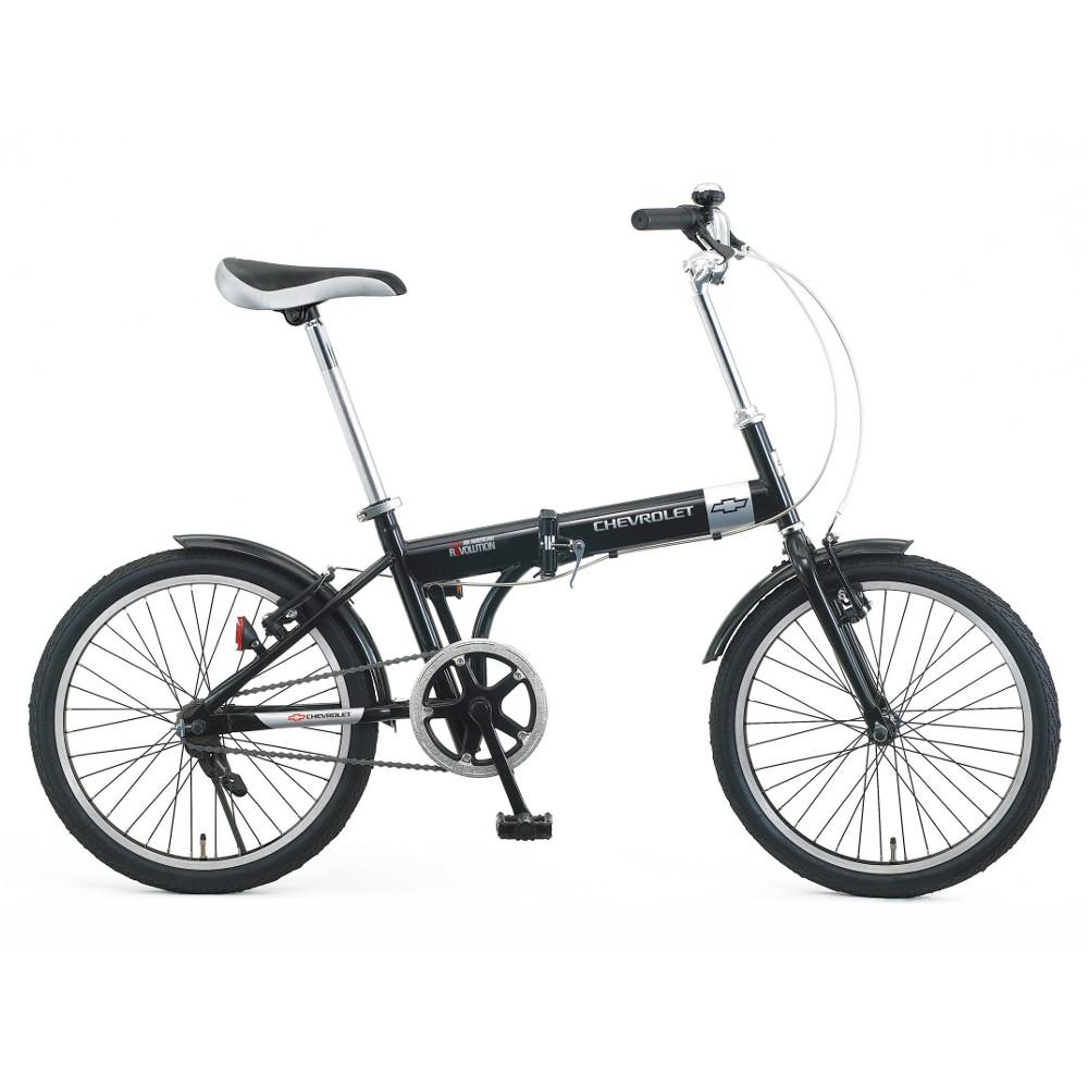 【メーカー在庫限り】ミムゴ 20インチ折り畳み自転車 CHEVROLET(シボレー) No.73123 シボレーFDB20 ブラック【代引き・時間指定不可】