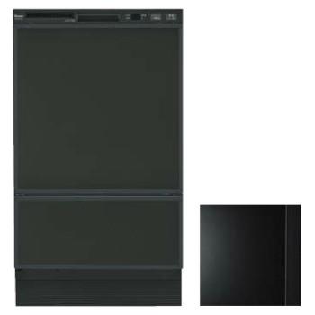 【入荷未定】リンナイ RSW-F402C-B ブラック 幅45cmフロントオープンタイプ食器洗い乾燥機(化粧パネルブラック(ツヤ消)付属)