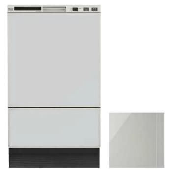 【入荷未定】リンナイ RSW-F402C-SV シルバー 幅45cmフロントオープンタイプ食器洗い乾燥機(化粧パネルグレー(光沢)付属)