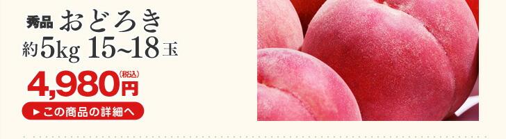 山形県産桃 おどろき約5kg
