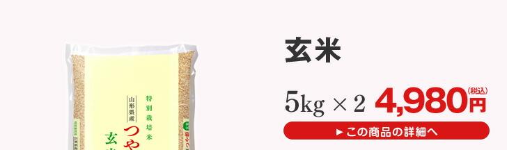 山形県産つや姫玄米5kg×2