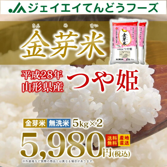 山形県産金芽米つや姫5kg×2