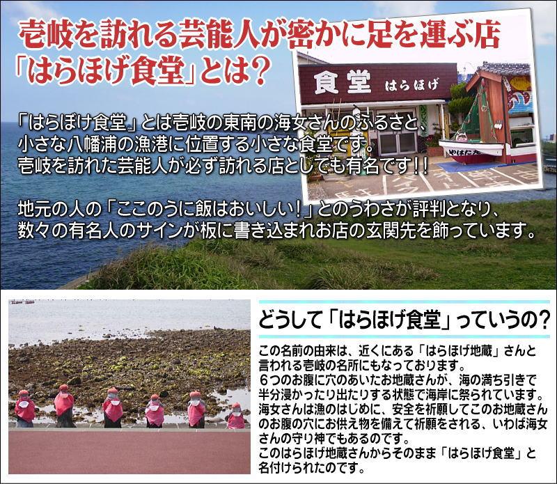 長崎県壱岐の島、玄界灘に浮かぶ壱岐の名物食堂『はらほげ食堂』の有名なウニ飯が全国どこでも食べれるようになりました。真空パッククール冷凍便で出荷いたします。レンジで暖めてお召し上がりください。よけいな味付けはいっさいなしのウニ飯