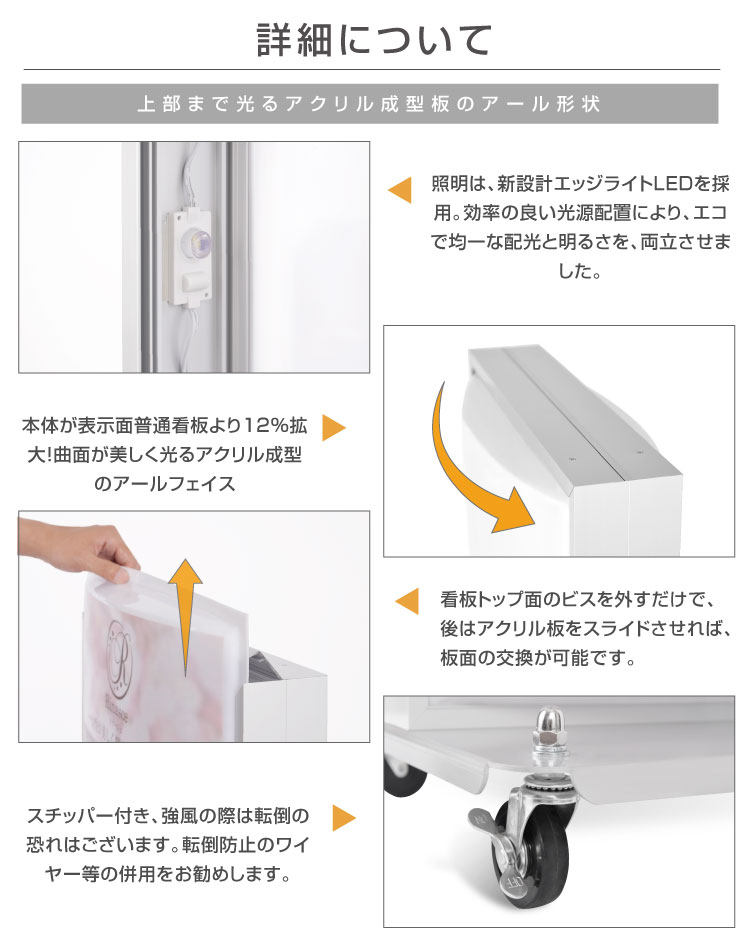 LED電飾スタンド看板