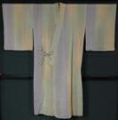 単衣道中着 絹麻混 縞ぼかし模様 行長サイズ