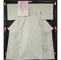 新品仕立上品 夏物 近江ちぢみ「秦荘上布」と八寸名古屋帯、帯揚げ、帯〆の4点セット 裄長・トールサイズ