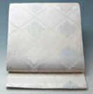 【 新品 芯入れ 仕立て上り 】夏物 西陣織 袋帯 (2) 正絹 絽 菱華文模様★送料無料