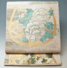 西陣 川島織物 袋帯 霞に花籠模様 正絹 特選 ★送料無料