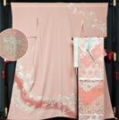 着物セット 作家物訪問着と川島織物袋帯、帯揚げ、帯〆の4点セット 落款入り 送料無料