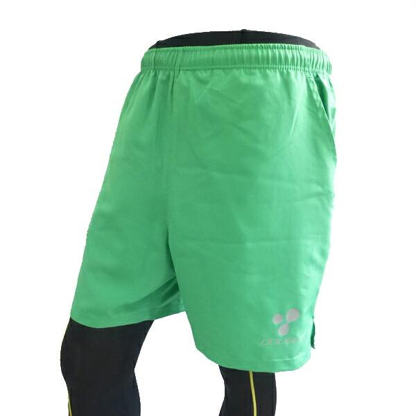 【DOUBLE3(ダブルスリー / ダブル3)】 メンズ (Men's) DW-2670 7インチ ランニングパンツ ブラック / バックポケット、ドローコード付き(DW2670)*ブラック / グリーン / ピンク