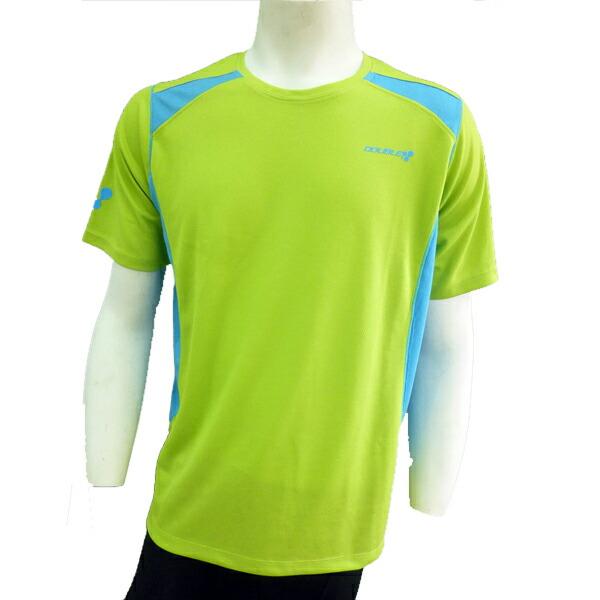 【DOUBLE3(ダブルスリー / ダブル3)】 メンズ (Men's) DW-3280 ランニングTシャツ / ライトブルー / ライトグリーン / イエロー / ピンク (DW3280)
