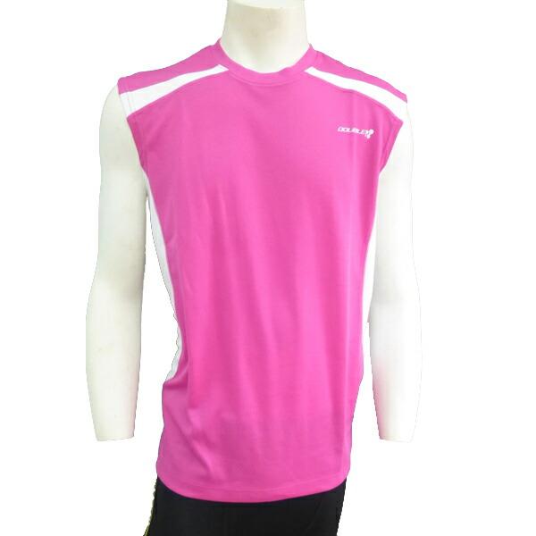 【DOUBLE3(ダブルスリー / ダブル3)】 メンズ (Men's) DW-3280 ランニングTシャツ / ライトブルー / ライトグリーン / イエロー / ピンク (DW3290)