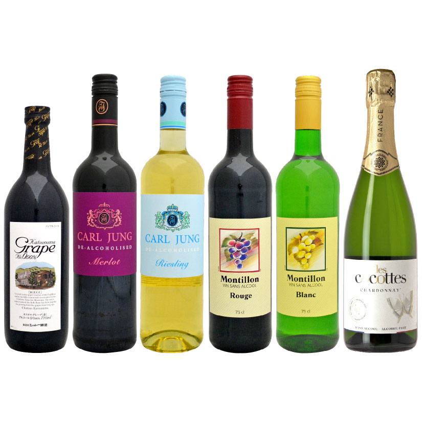 ノンアルコールワイン 赤・白・スパークリング白 6本セット