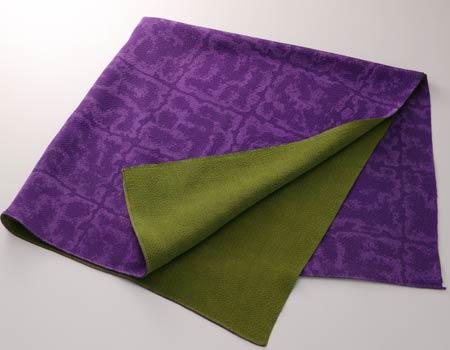 京友禅風呂敷 正絹縮緬二巾表裏染 表:紫 裏:グリーン