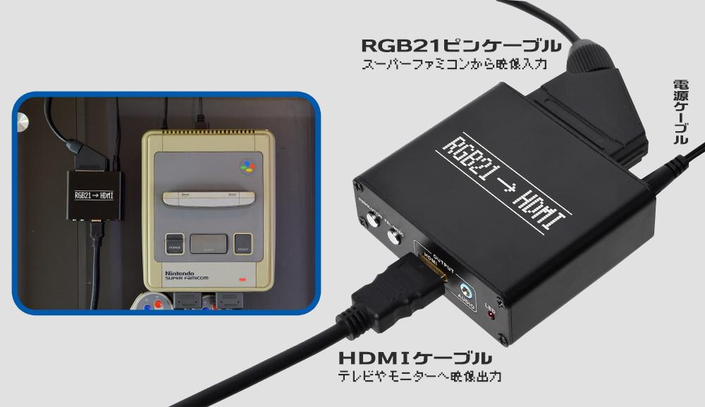 RGB21入力をHDMI出力へ変換
