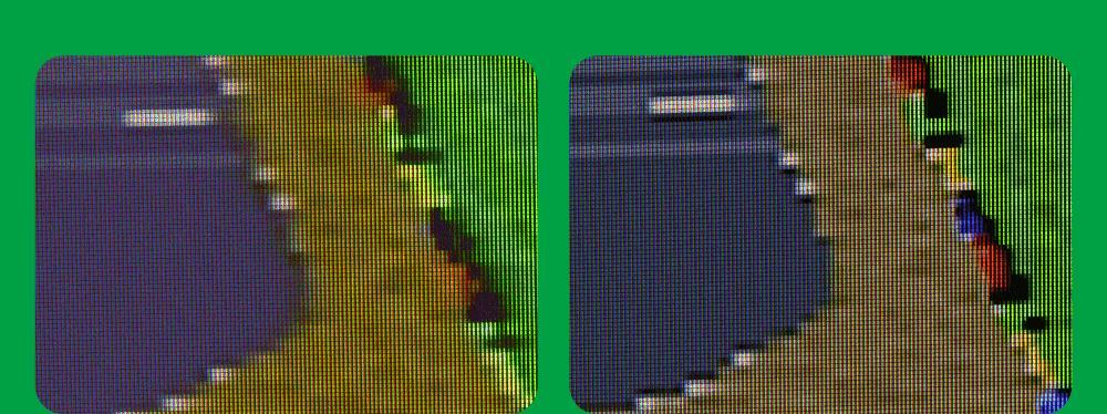 コンポジット接続とRGB21ピン接続との映像比較その2