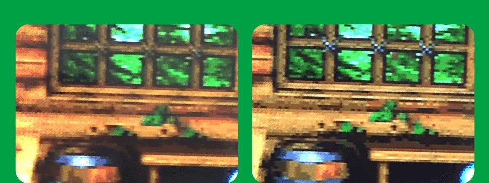 コンポジット接続とRGB21ピン接続との映像比較その4