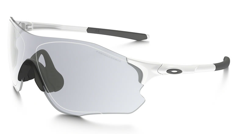 c5e53328375 EVZERO PATH PHOTOCHROMIC (ASIA FIT) OO9313-06. FRAME  Matte White   LENS   Clear Black Iridium Photochromic Activated