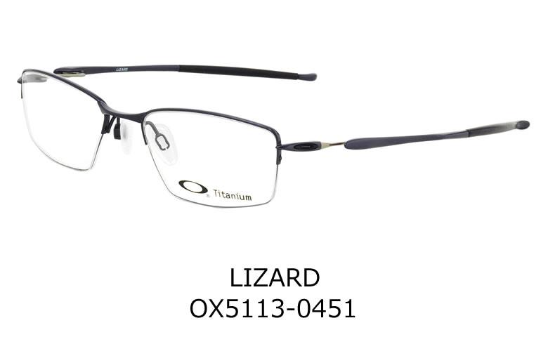 0c4955ebba DENNO GANKYO  -OAKLEY glasses OX5113-0451 LIZARD Polished Midnight ...