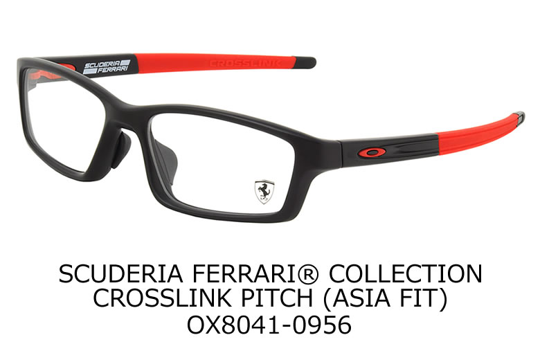 9ef58120b8 SCUDERIA FERRARI® COLLECTION CROSSLINK PITCH (ASIA FIT) OX8041-0956.  FRAME Satin Black (Ferrari Red)