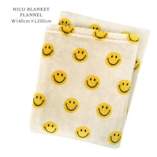 NICO ブランケット フランネル ≪L/アイボリー≫