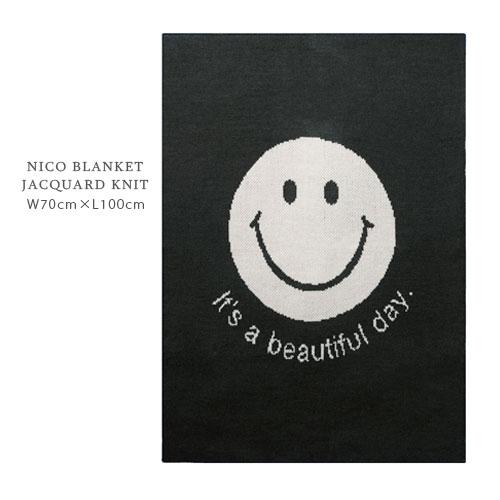 NICO ブランケット ジャガードニット 70cm×100cm