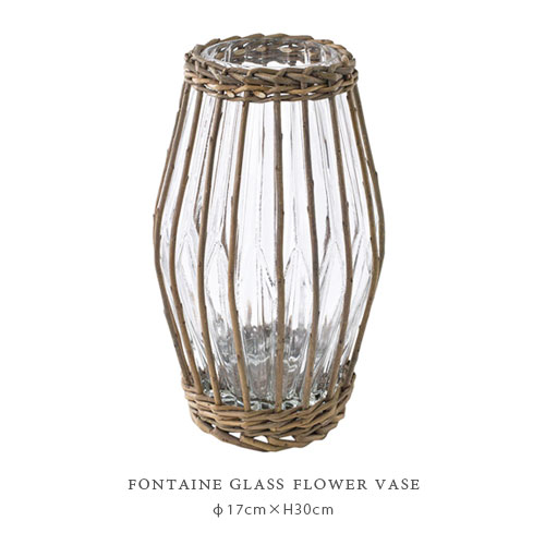 FONTAINE GLASS フラワーベース ≪HIGH POT≫
