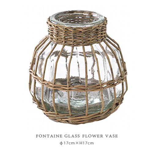 FONTAINE GLASS フラワーベース ≪OVAL POT≫