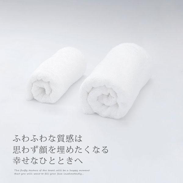 高品質でシンプルな真白なタオルは使い道豊富で喜ばれること間違いなし