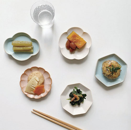 パターン豆皿 (5枚セット)美濃焼 日本製 磁器 食器 ギフトボックス入り(電子レンジ対応・食器洗浄機対応)【あす楽対応】