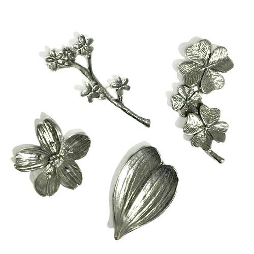Blossaom 箸置き 「花モチーフ」 錫 日本製