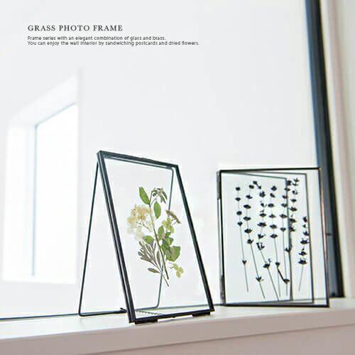 GRASS FRAME ガラス フォトフレーム