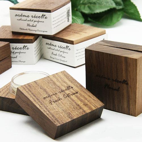 aroma recolte ナチュラル ソリッドパルファム 全3種 ≪フローラル・ハーバル・フレッシュシトラス≫ アロマレコルト 練り香水 natural solid perfume