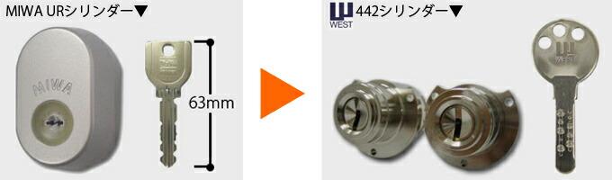 WEST 442高性能シリンダー